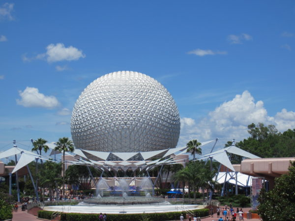 The perfect symmetry of Spaceship Earth looks great on its own.