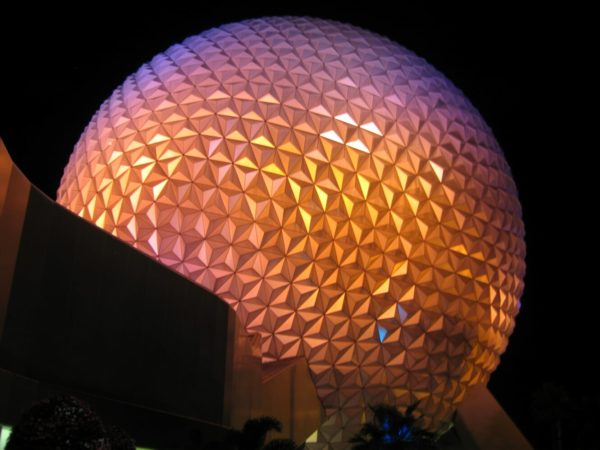 Spaceship Earth At Night Is Quite A View!