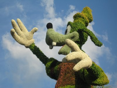 Topiaries are a big part of the Epcot Flower And Garden Festival. Each one is a both work of art and a feat of both engineering and gardening magic.