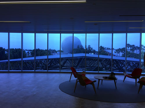 Look at the amazing view from the Test Track VIP Lounge!