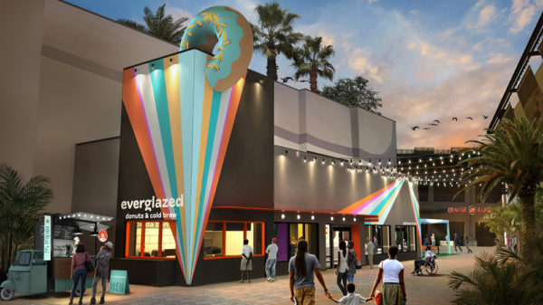 The design of Everglazed Donuts & Cold Brew will feature bold colors. Photo credits (C) Disney Enterprises, Inc. All Rights Reserved