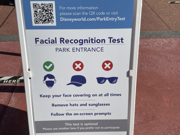 Masks are OK, but Guests must take off hats and sunglasses during the test.