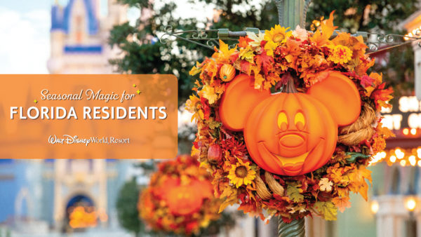 Disney World is offering special discounts for Florida residents this fall. Photo credits (C) Disney Enterprises, Inc. All Rights Reserved
