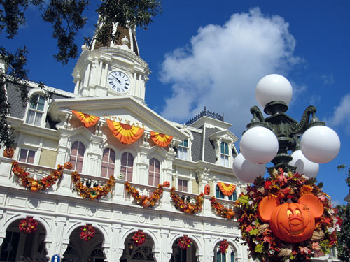 Main Street comes alive with fall colors.