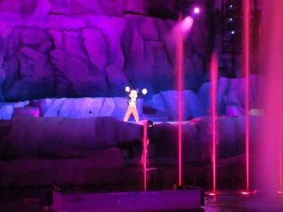 Mickey conducts water and music.