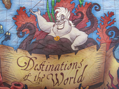 Ursula is hawking the destinations of the world!