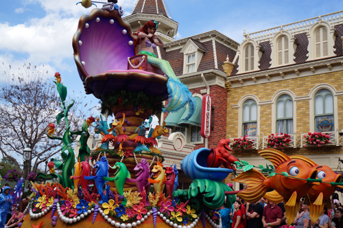 The Festival of Fantasy parade is a colorful afternoon parade that offers a FastPass.