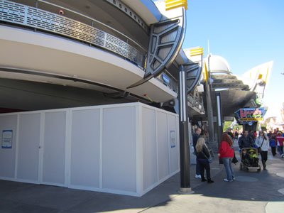 The old FastPass machines near Buzz Lightear are being removed.