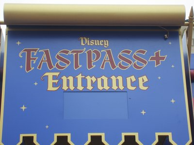 FastPass + entrance at Mickey's Philharmagic.