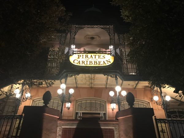 My favorite attraction in Magic Kingdom's Adventureland is Pirates of the Caribbean!