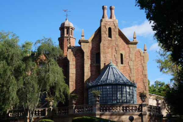 The Magic Kingdom version of Haunted Mansion is a NY Tudor style home circa the late 1700s.