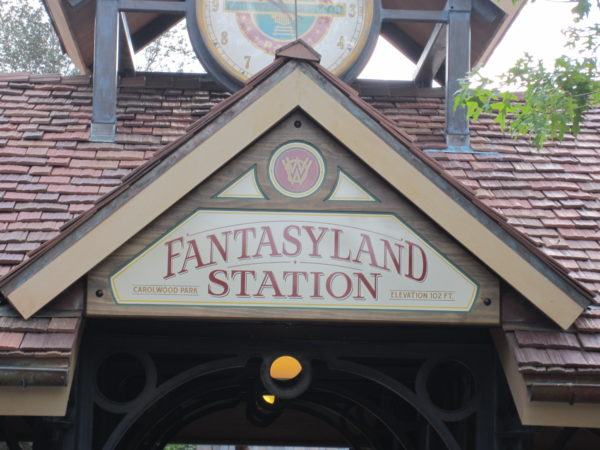 The Fantasyland Station has gone by several names, but it is part of Fantasyland today.