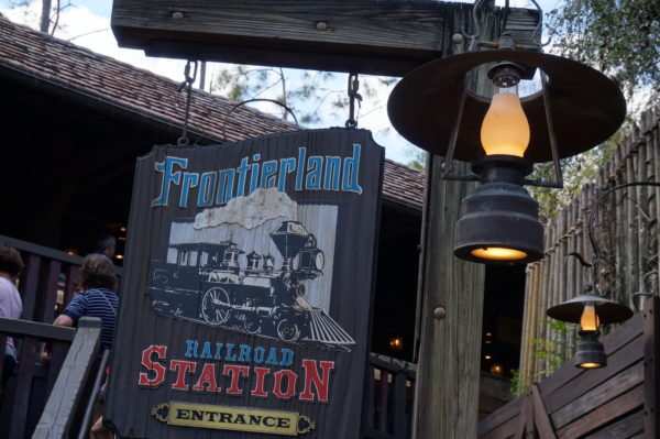 Frontierland Station sits near Splash Mountain.