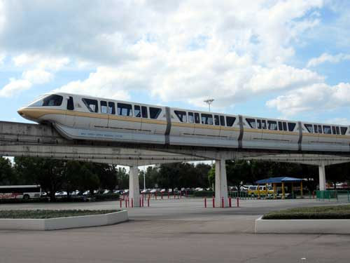 The monorail is your highway in the sky.