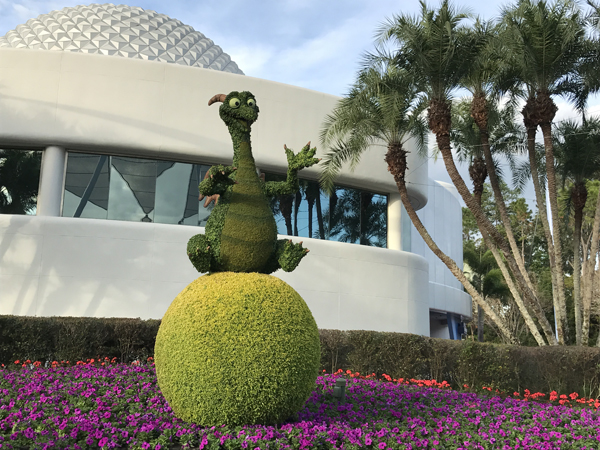 You can find this new Figment topiary between Spaceship Earth and the Fountain of Nations. It's pretty cool!