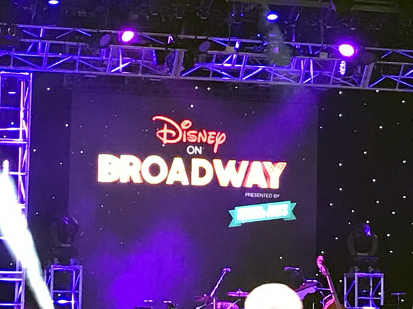 Disney Broadway artists perform on the American Gardens stage near the American Adventure.