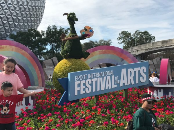 Figment welcomes you to the Epcot International Festival of the Arts!