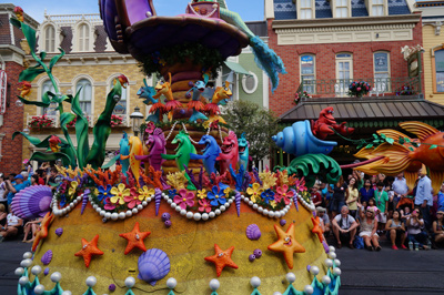 Lots of color and motion on this float.
