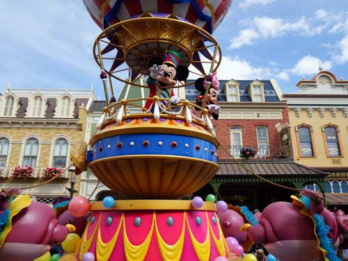 A Magic Kingdom parade wouldn't be complete without Mickey Mouse!