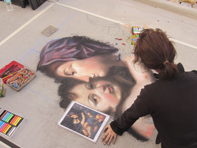 The chalk art was very impressive!
