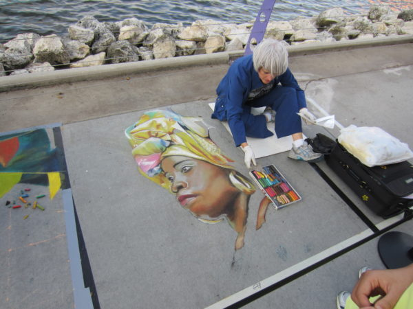 There are visual artists performing throughout the festival and the park!