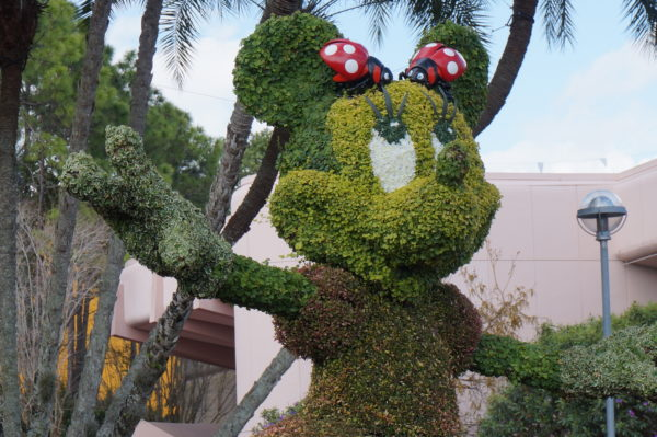 The topiaries at the Flower and Garden Festival are made entirely of natural materials!