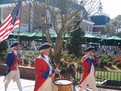 The Spirit of America Fife and Drum Corps provide live entertainment.