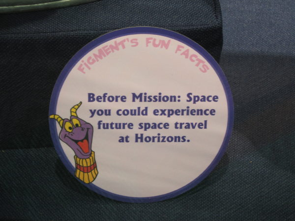 "Figment says, ""Before Mission: Space you could experience future space travel at Horizons."""