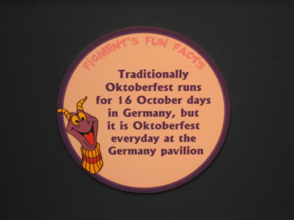 "Figment says, ""Traditionally Oktoberfest runs for 16 October days in Germany, but it is Oktoberfest everyday in the Germany pavilion."""