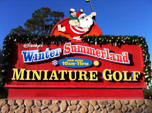 Mini golf is a great way to spend part of at day at Disney World.