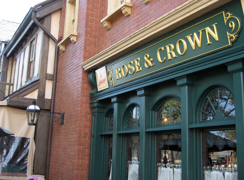 Rose & Crown has a sit down restaurant and a pub. Fish and chips are served at both!