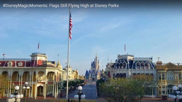 It is good to see the United States flag still flying over Main Street USA. Photo credits (C) Disney Enterprises, Inc. All Rights Reserved