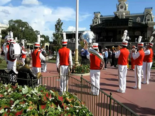 The Flag Retreat Ceremony is a very special and serious moment on Main Street USA.