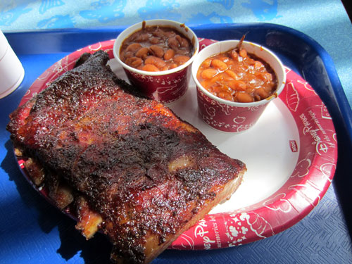 The ribs are a terrific quick service choice.