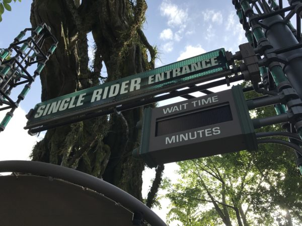 Single riders enter here for a shorter wait time.