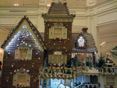 The gingerbread house at the Grand Floridian is life-sized.