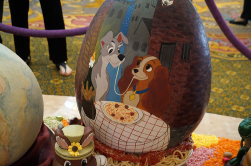 """Lady and the Tramp"" is a popular egg that returns again this year."