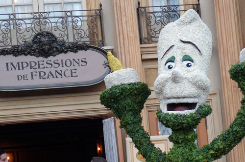 I really like the Lumiere topiary.  He fits right into the France pavilion!