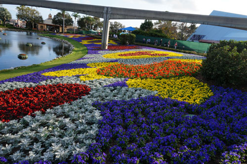 Beautiful flower beds near Imagination.