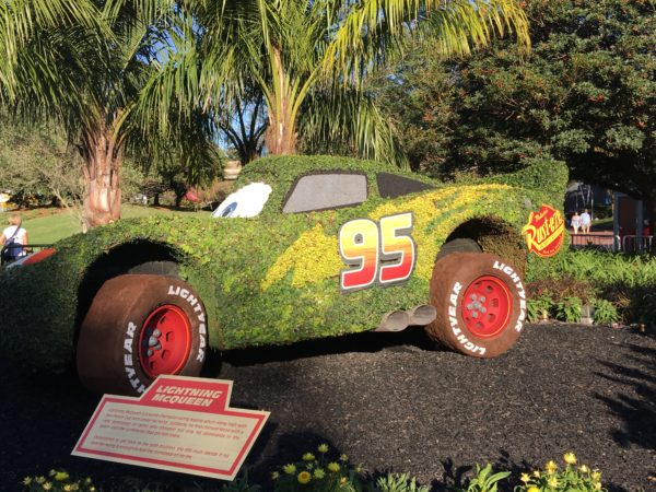 If you've never seen this large Lightening McQueen topiary, you need to see it as soon as possible! it's pretty impressive.