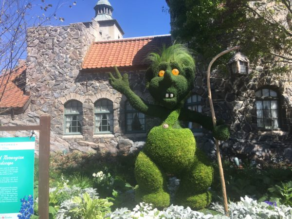 This troll in Norway is kinda, well, odd looking, but hit fits in the pavilion's culture.