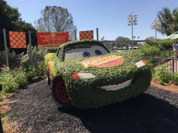 Lightening McQueen looks happy to be part of the Festival!