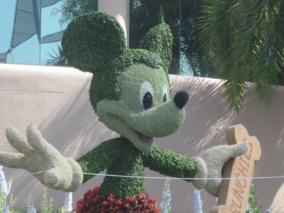 A Mickey Mouse topiary is scheduled to return in 2013.