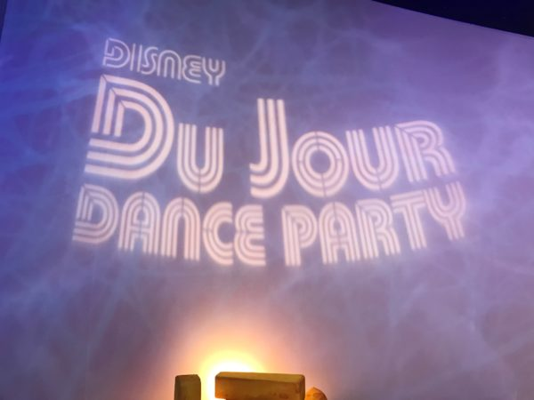 Disney du Jour Dance party features a DJ or Live Entertainment!