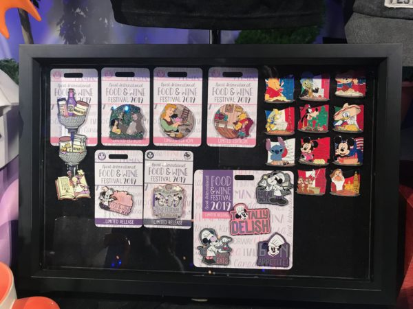 Food and Wine Festival Disney Trading Pins