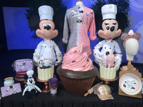 Chef Minnie and Mickey show off their International Food and Wine Festival collection.