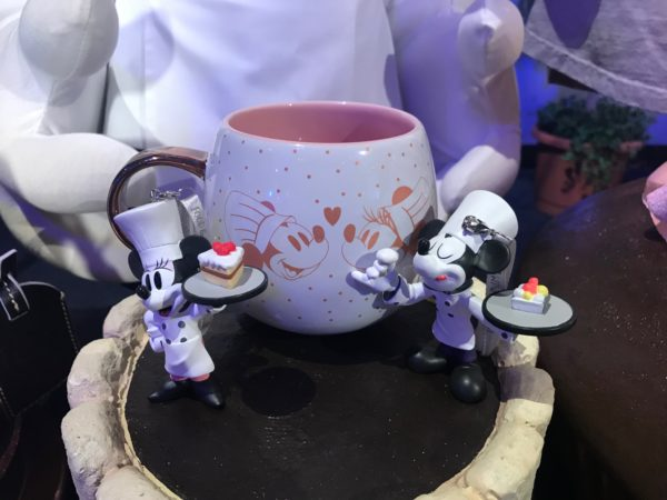 Chef Mickey and Minnie Mug and figurines