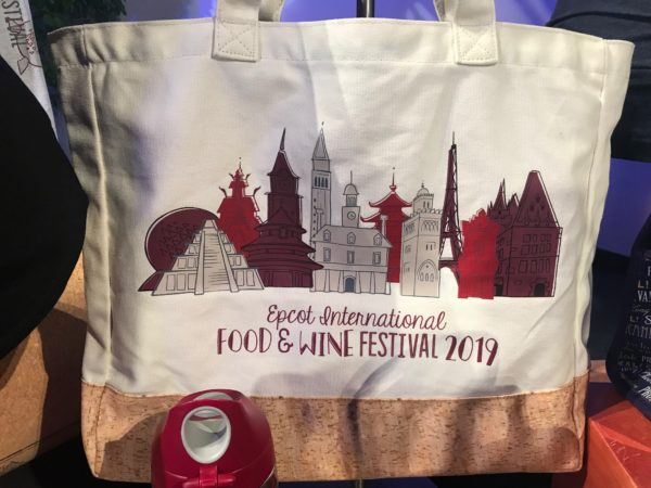 Epcot International Food and Wine Festival 2019 tote bag