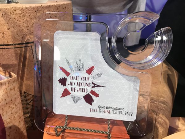 Taste Tour way Around the World - Epcot International Food an Wine Festival 2019 wine glass holder plate