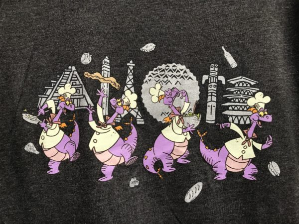 Chef Figment travels the world on this festival shirt!